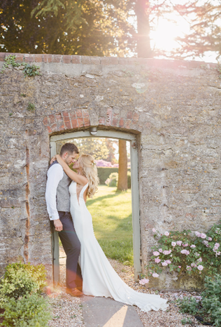 Bride-and-Groom-in-the-walled-garden